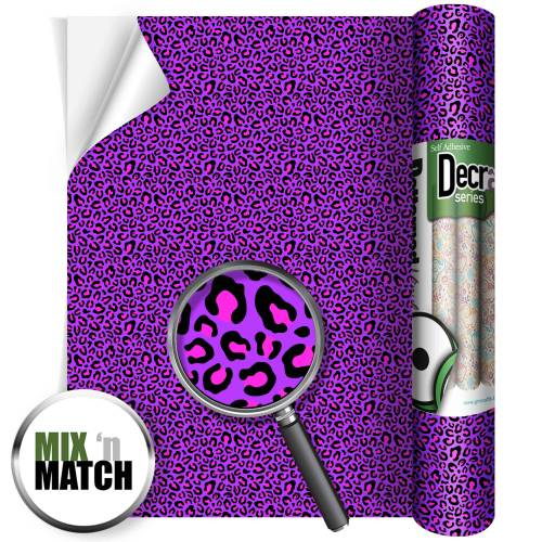 Leopard Purple And Pink Pattern Self Adhesive Vinyl Rolls From GM Crafts