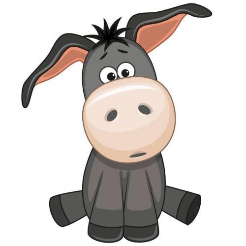 Cute Donkey Main Product Image