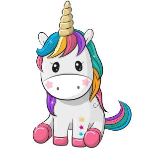 Cute Unicorn Printed Heat Transfer Iron On Decal From GM Crafts