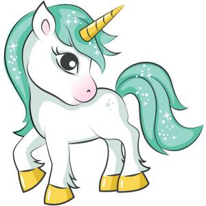 Green Haired Unicorn Printed Heat Transfer Iron On Decal From GM Crafts