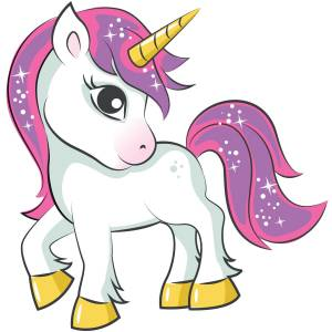 Pink Haired Unicorn Printed Heat Transfer Iron On Decal From GM Crafts