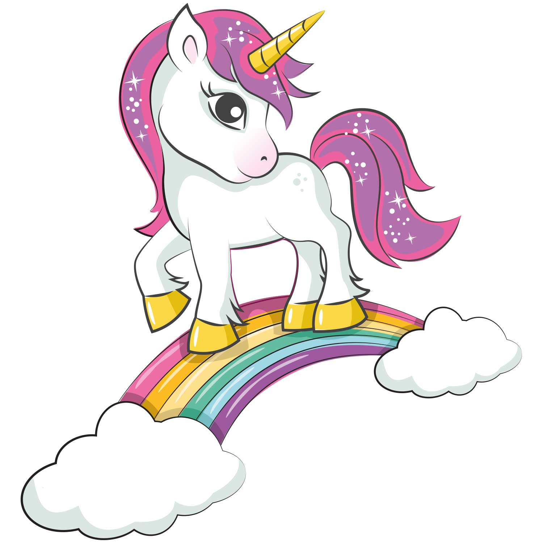 Pink Unicorn Rainbow Iron On Transfer - GM Crafts