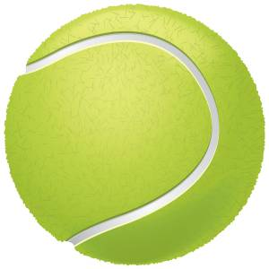 Tennis Ball Printed Heat Transfer Iron On Decal From GM Crafts