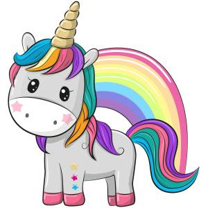 Unicorn With Rainbow Printed Heat Transfer Iron On Decal From GM Crafts