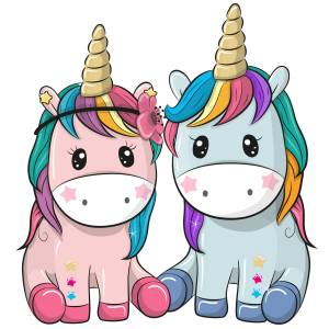 Unicorn Friends Printed Heat Transfer Iron On Decal From GM Crafts