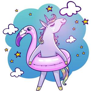 Holiday Unicorn Printed Heat Transfer Iron On Decal From GM Crafts