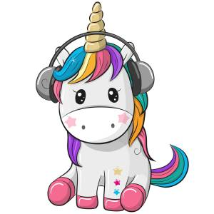 Unicorn Tunes Printed Heat Transfer Iron On Decal From GM Crafts