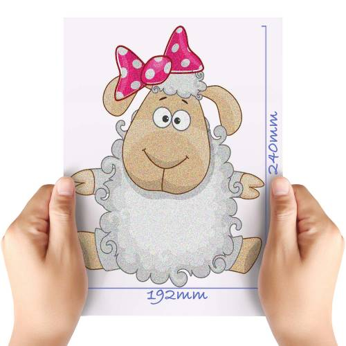 XL-Cute-Sheep-Glitter-HTV-Transfer