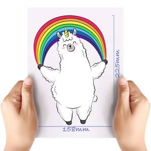 XL-Rainbow-Parachute-Llama-Matt-HTV-Transfer