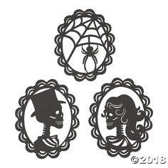 Example - Halloween window silhouettes