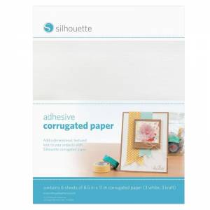 Silhouette-Adhesive-Corrugated-Paper-Sheets